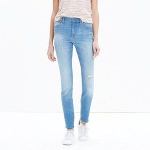 "Madewell 9"" high riser skinny jeans in Sadie wash"